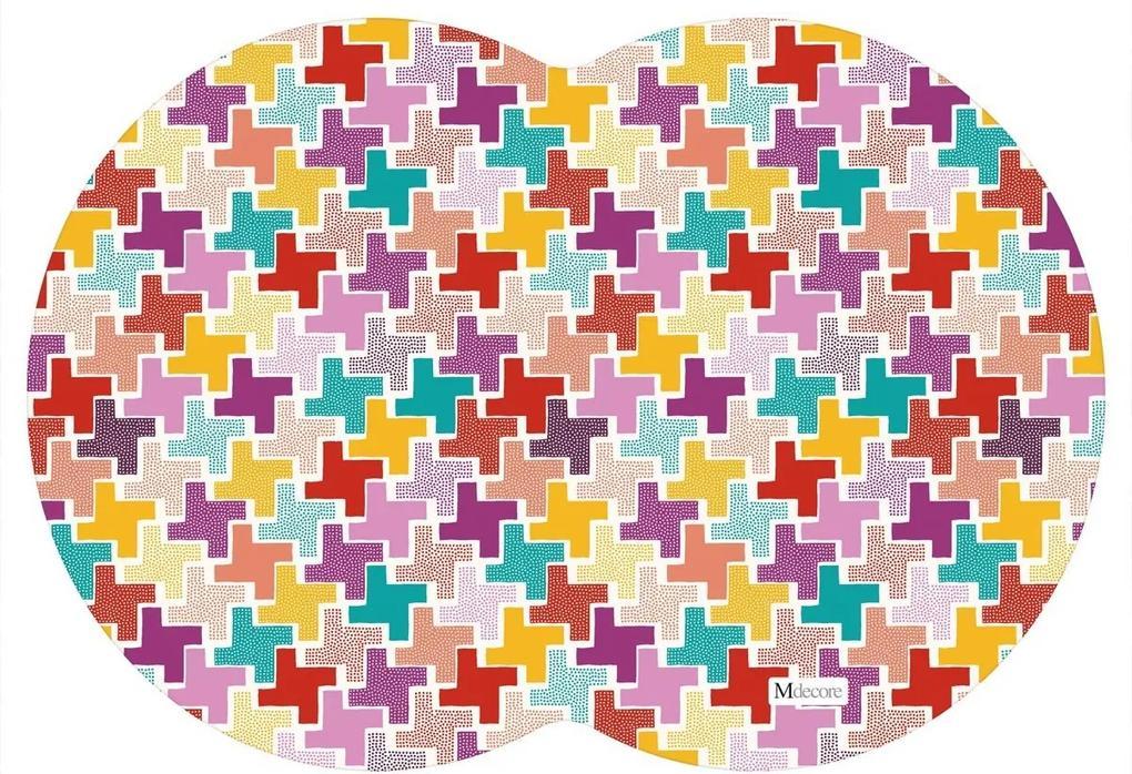 Tapete PET Mdecore Geométrico Abstrato Colorido54x39cm