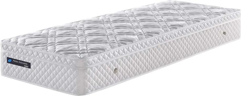 Colchão Solteiro Com Molas Ensacada Relax Adorabile Branco 096x203x26 - Ecoflex