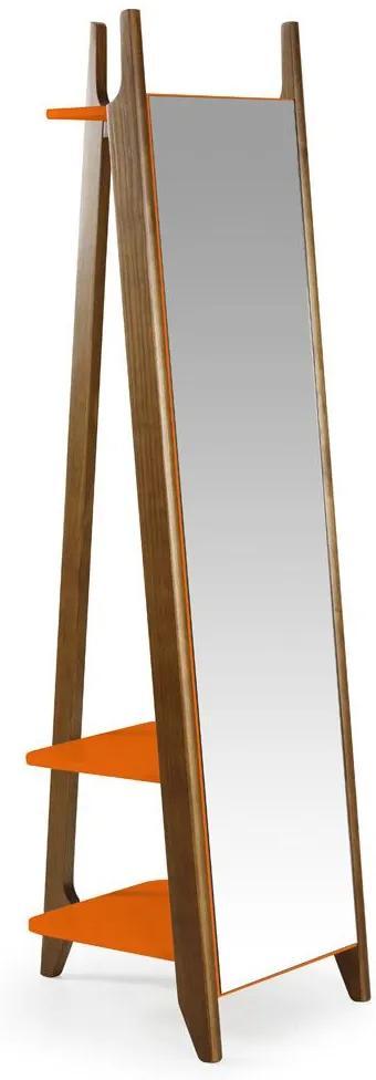 Espelho Stoka 169,5 cm 988 Nogal/Laranja Novo - Maxima
