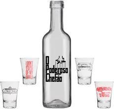 Kit Copos de Tequila Shot O Poderoso Chefao Don Corleone + Garrafa