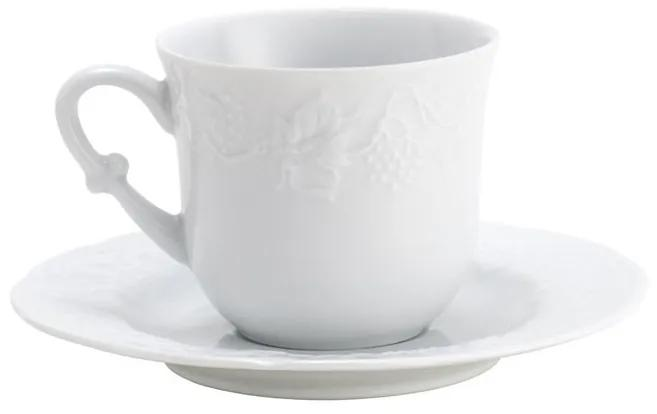 Jogo Xícaras Café C/Pires 6pçs Porcelana Limoges Vendange 100ml 17030 Wolff
