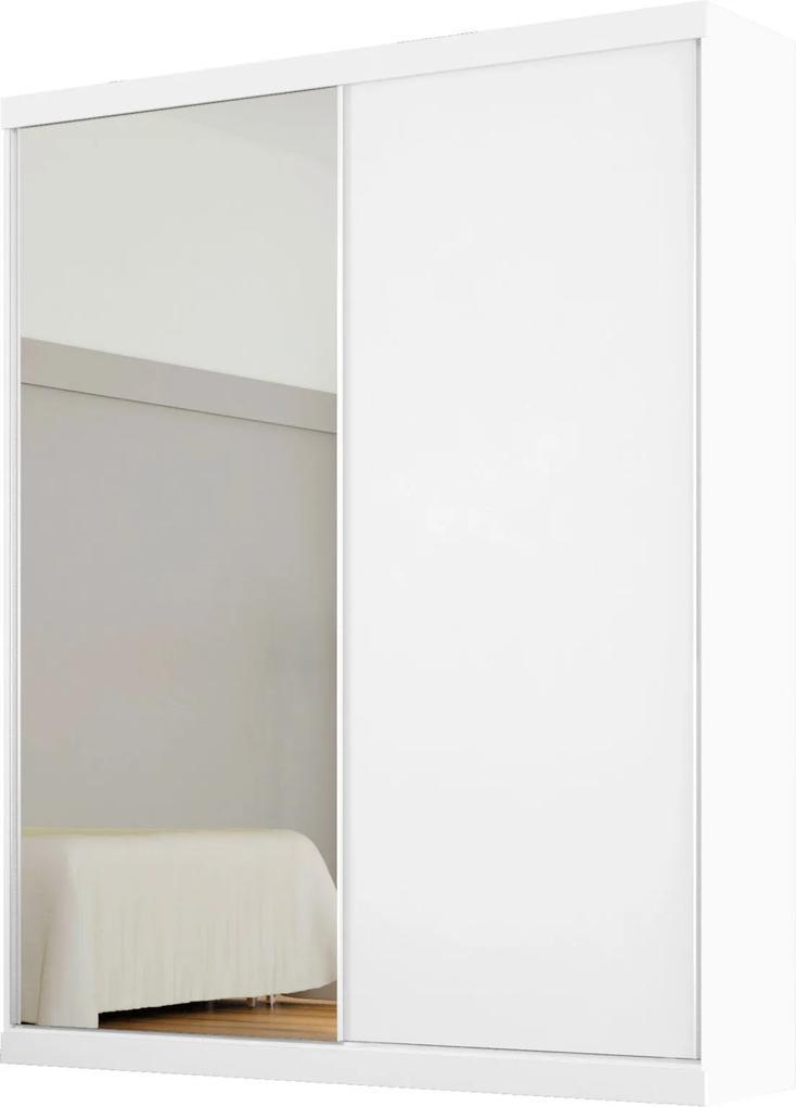 Dormitório Casal Andrea C/ Espelho Branco Madeirado Robel Móveis