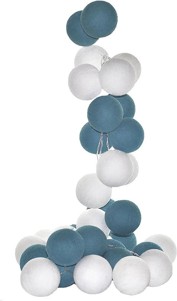 Fio De Luz Mendoza Kit 20 Bolas 220V Cormilu Azul