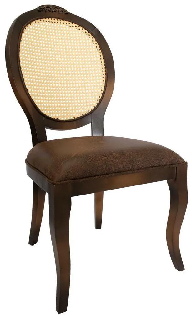 Cadeira Medalhão Lille com Palha cor natural - Vintage  Provençal Kleiner Schein