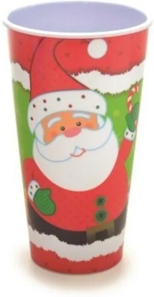 Copo Noel Vermelho Branco Verde