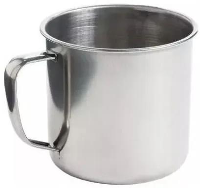 Caneca em Aço Inox 12 cm 700ml Polido Chá Leite Café KeHome