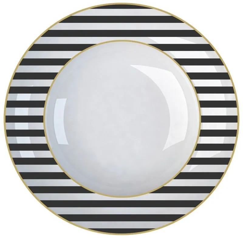 Jogo de 6 Pratos Fundo De Porcelana Fancy