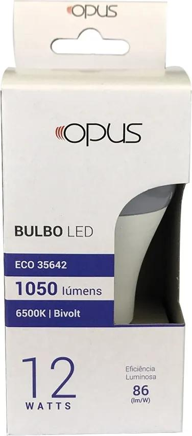 Lâmpada de Led Bulbo ECO E27 12W 6500K - Opus - Bivolt