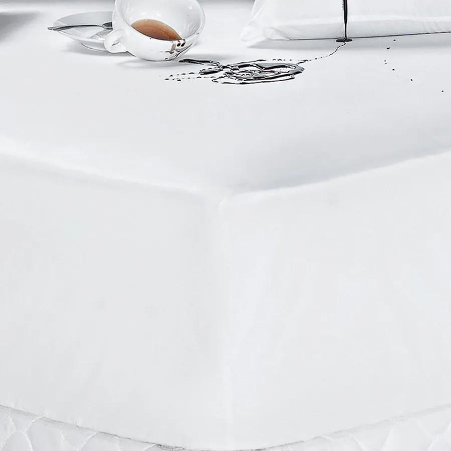 Protetor de Colchão Impermeável Queen Liso Branco