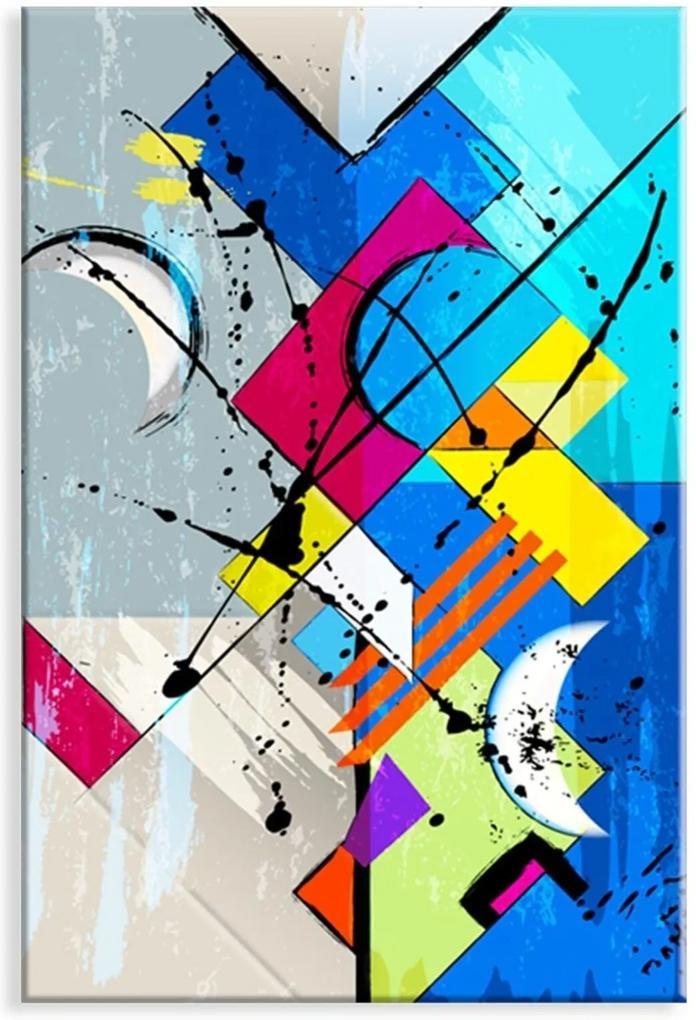 Tela Love Decor Wevans Decorativa Abstrato Azul