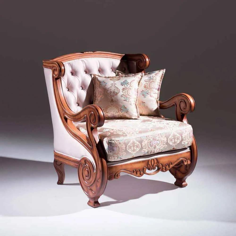Sofá Premier 1 Lugar Madeira Maciça Design Clássico Avi Móveis