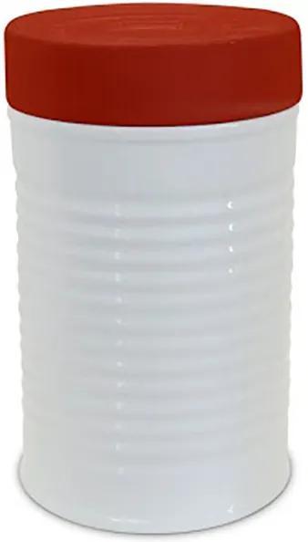 Pote Lata com Tampa Vermelha 1300 ml