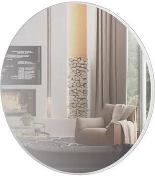 Espelho Redondo Lunes Grande cor Off White Brilho 60 cm (DIAM) - 56533 Sun House