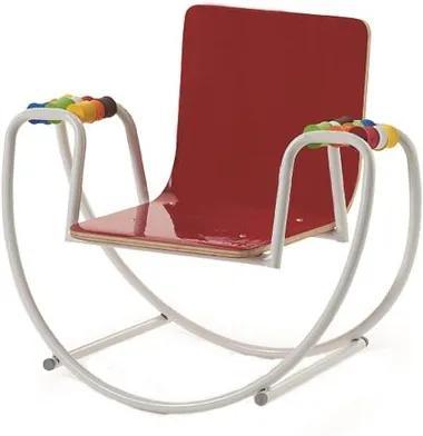Cadeira Be-a-ba INFANTIL Assento Multilaminado Vermelho com Base Balanco - 44215 Sun House