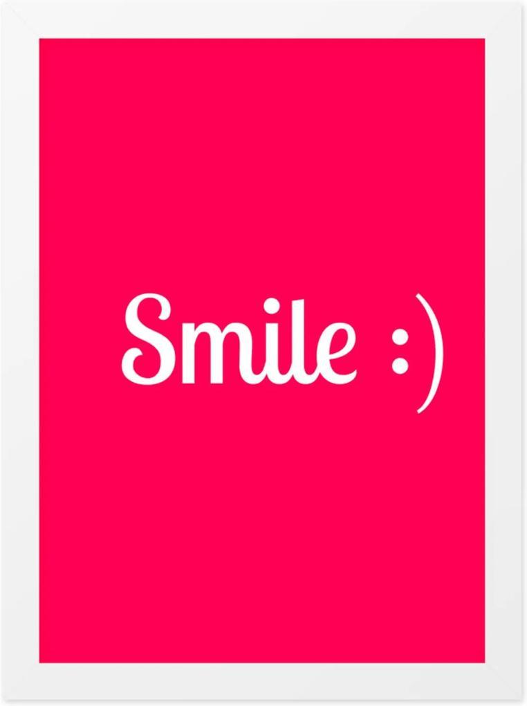 Quadro Adoraria A4 Smile Branco