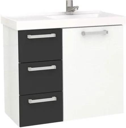 Gabinete para Banheiro 60cm Aço Ameixa Preto 59,6x54,9x33,3cm - Cozimax - Cozimax