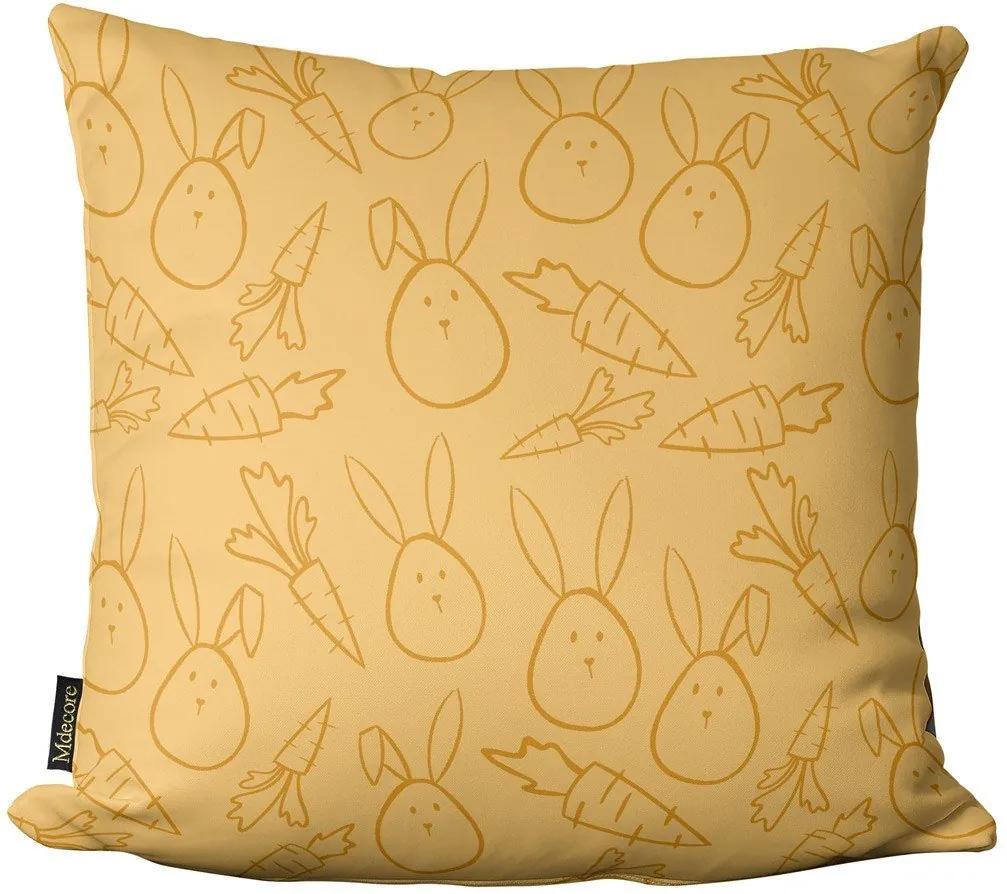 Capa para Almofada de Páscoa Ovso Amarelo 45x4545x45cm