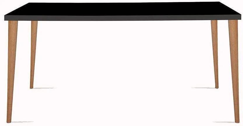 Mesa Eames 180cm Preto/Castanho - Daf Mobiliário