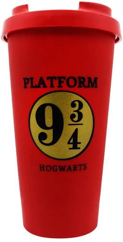 Copo com Tampa Plataforma 9 ¾ - Harry Potter