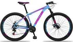 Bicicleta Aro 29 Quadro 17 Alumínio 21v com Suspensão e Freio Disco Or