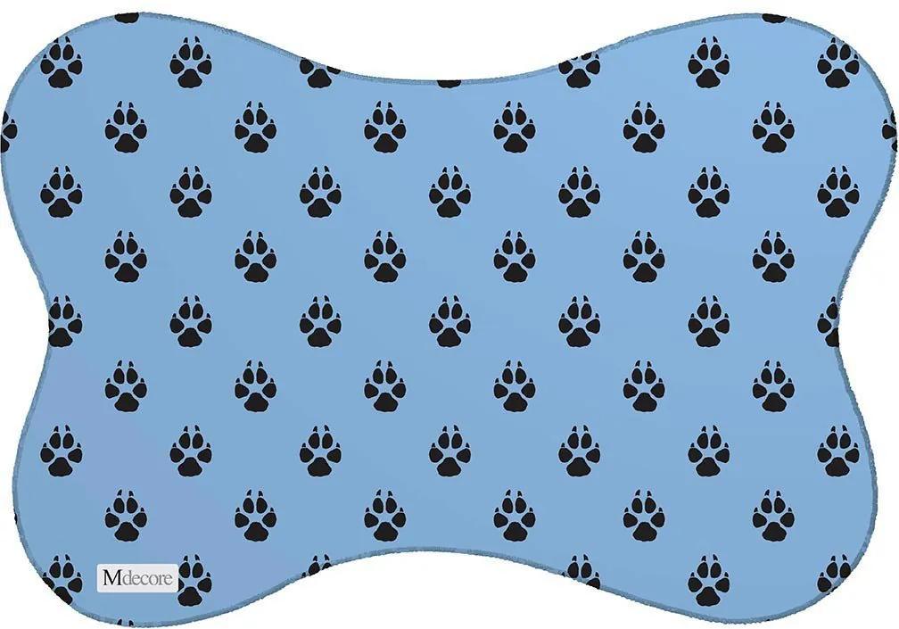 Tapete PET Mdecore Patas Azul46x33cm