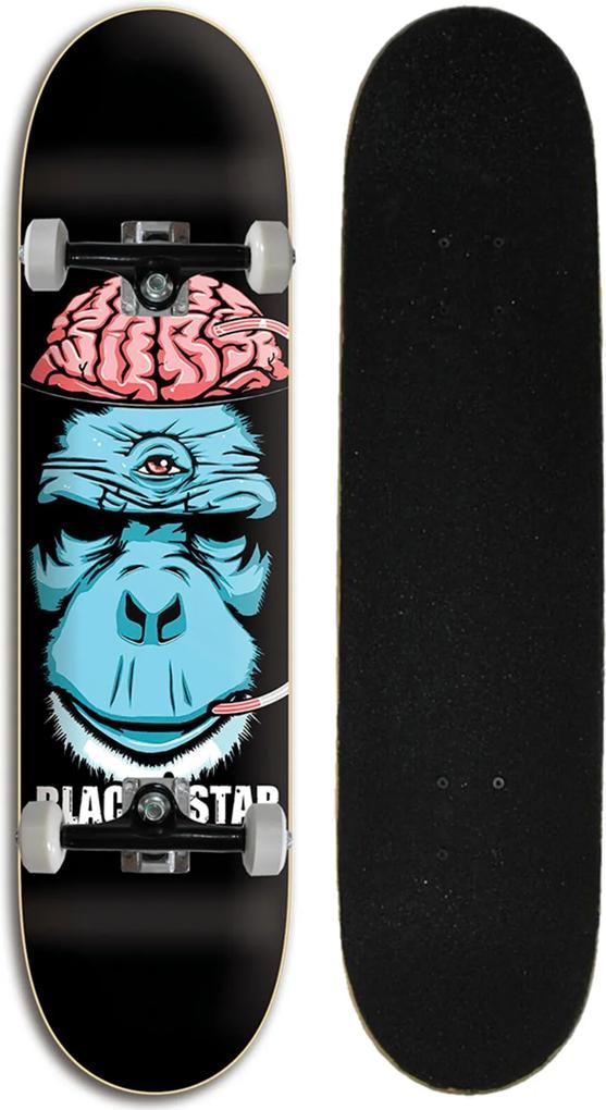 Skate Black Star Cerebro 7.80 Multicolorido