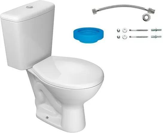 Kit Bacia com Caixa Acoplada e Assento Izy Branco + Conjunto de Fixação Flexível e Anel de Vedação - KP.111.17 - Deca - Deca