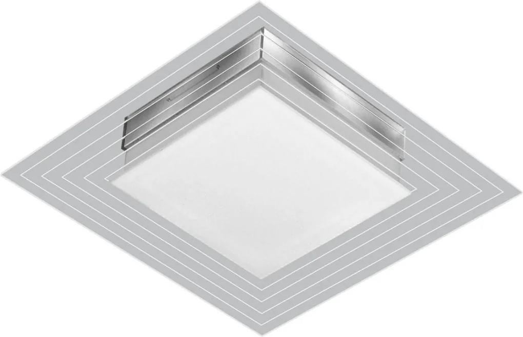 Arandela Plafon Branco Lisboa Led 9w 25x25cm