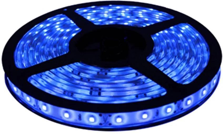 fita de led 5m 4,8w/m 12v azul s/ silicone Stella STH3281/AZ