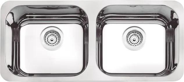 Cuba Retângular Dupla Inox Prime 89x39cm Alto Brilho - 94031/202 - Tramontina - Tramontina