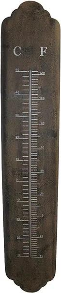 Termômetro em Metal Longo Enferrujado