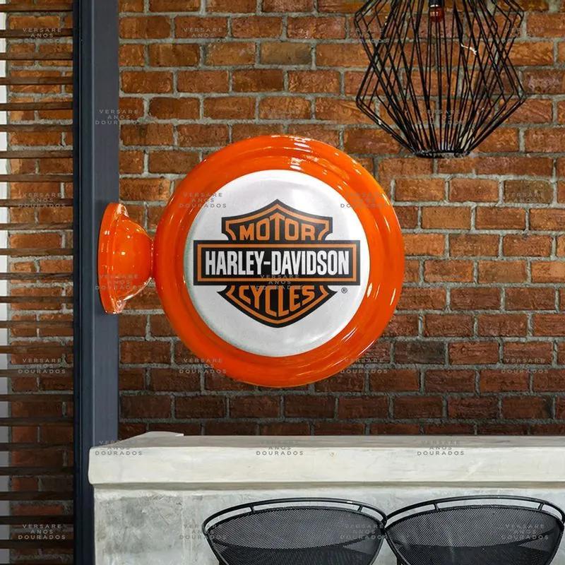 Luminária De Parede Harley Davidson