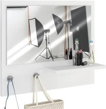 Painel Decorativo com Espelho Trend Branco - Estilare