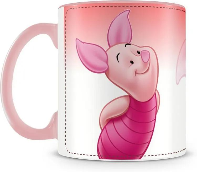 Caneca Personalizada Ursinho Pooh e Seus Amigos (Leitão)