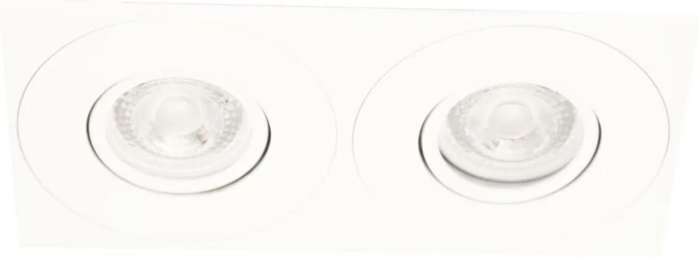 Plafon Embutir Aluminio Dicroica Gu10 Face Plana Dupla