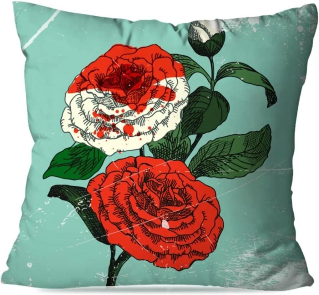 Capa de Almofada Avulsa Decorativa Pintura Rosa 35x35cm
