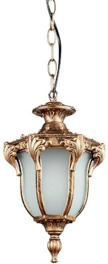 Pendente Colonial Ouro Velho Alumínio - Modelo Cannes