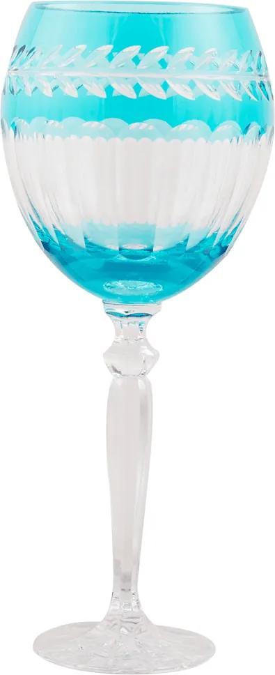 Taça de Cristal Lodz para Água de 500 ml - Azul Atenas