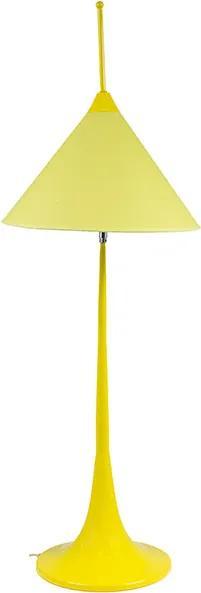 Abajur com Cúpula Móvel Amarelo Alto
