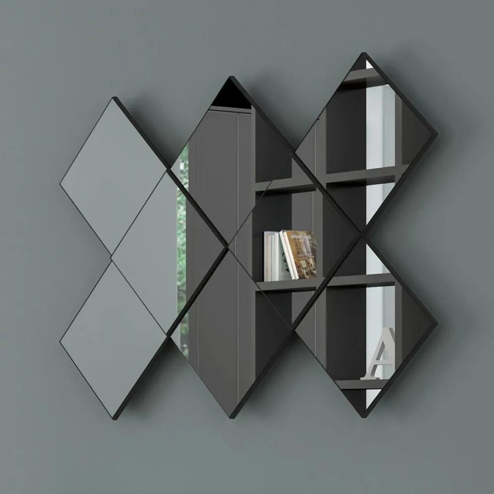 Espelho Losango 3d 127 cm Tb83 Preto Brilho - Dalla Costa