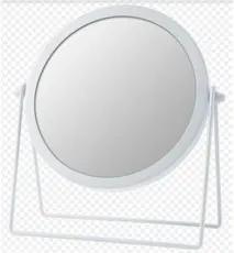 Espelho com Aumento 2x. 19,5x19,5x1,5cm Branco Domus