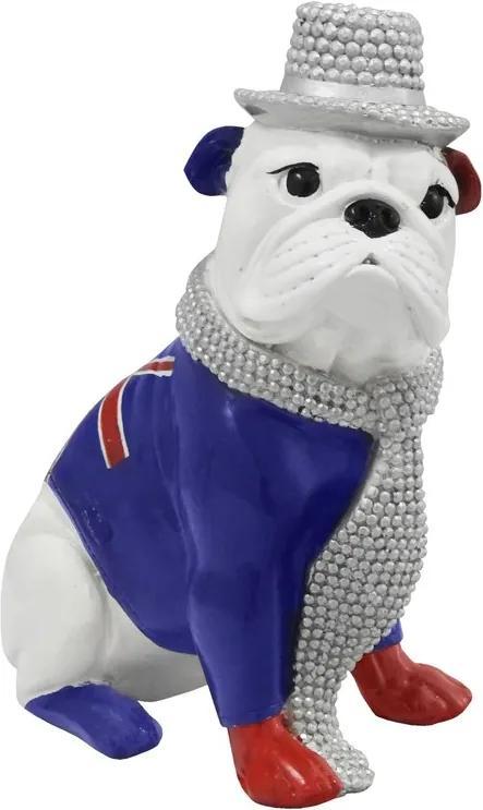 Escultura Em Resina Bulldog Snow