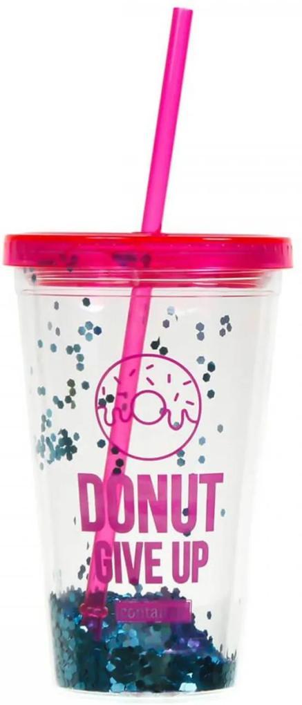 Copo C/ Canudo (Tritan) - Glitter - Container Fashion Donuts