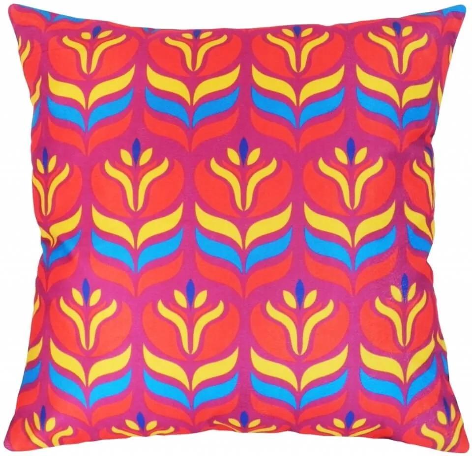 Capa De Almofadão Suede Estampa Tribal Pink 60X60