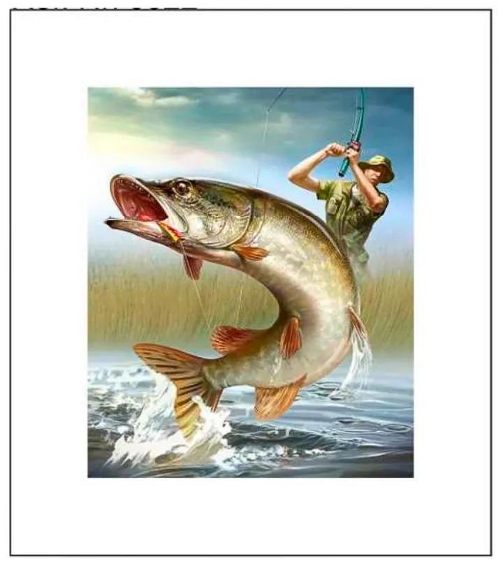 Quadro Decorativo O Pescador - KF 50058 30x30 (Moldura 520)