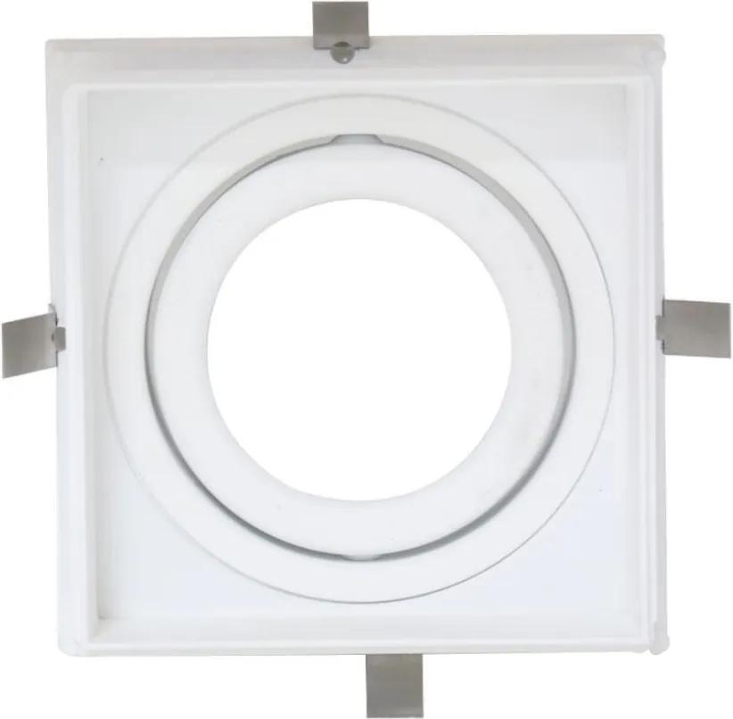 Plafon Embutir Aluminio Branco 9,6cm