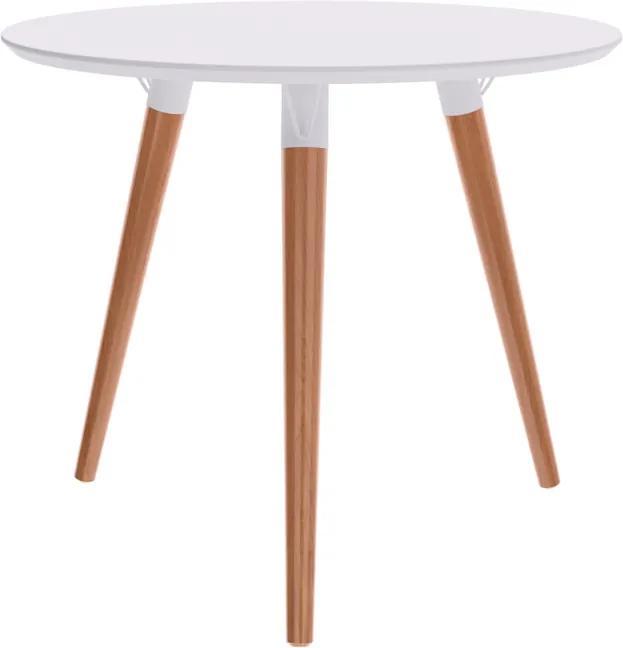 Mesa de Jantar Redonda Marius 90x90 cm Off White - Wood Prime TS 34282