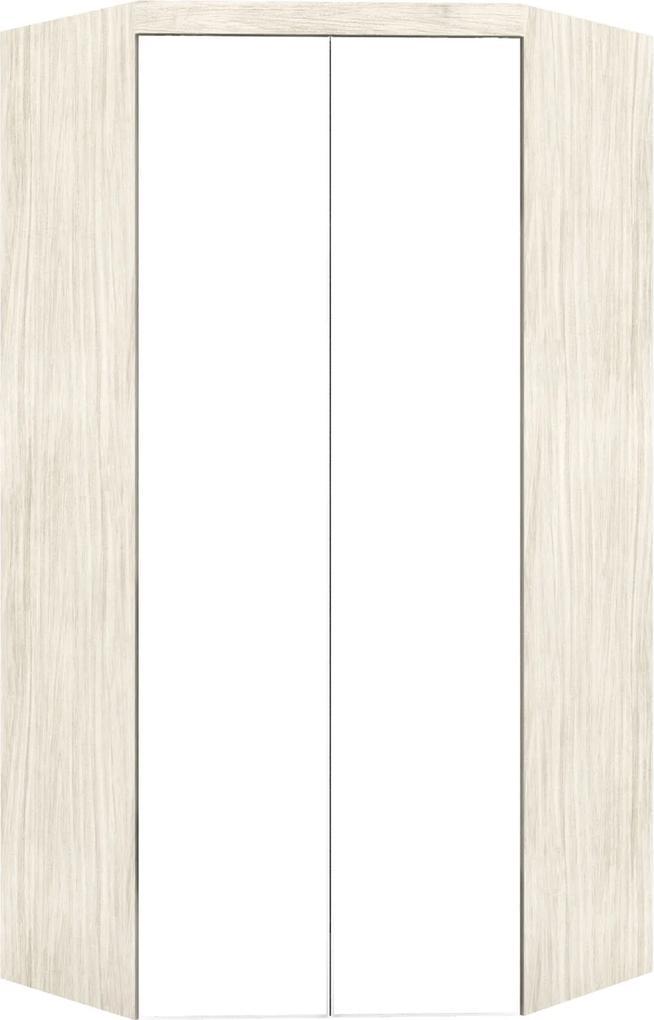 Guarda-Roupa Canto Closet Virtual 2 Portas Com Espelho E Gavetas Rovere Robel