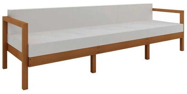 Sofá Componível Lazy 3 Lugares com Almofadas - Wood Prime MR 44005