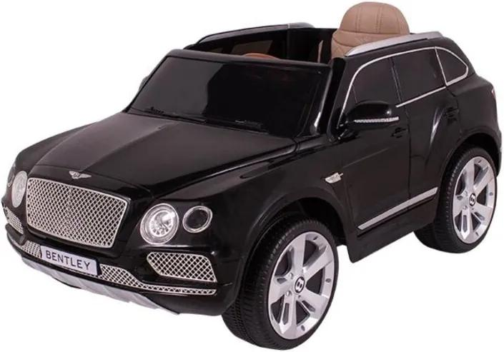 Carro Bel Brink Elét. Bentley Preto 12V Bco Couro e Controle